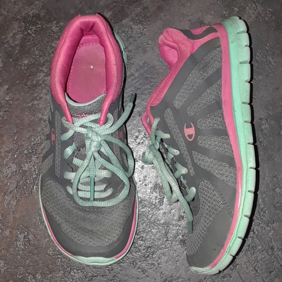 b92dfb6a89f809 Champion Other - Little Girls 13 CHAMPION Sneakers Gray Pink Green